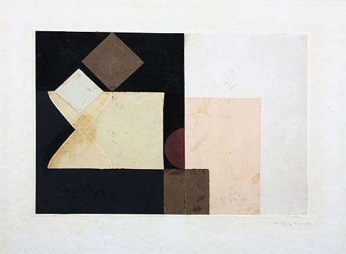 Anthohy Hill, Composition,1950, collage, 34.4 x 48.3 cm