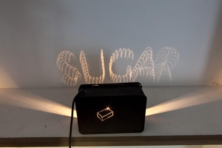 Bill Culbert, 'Sugar Box', 1981, metal tin, bulb, electrical cable, 19 x 13 x 8 cm