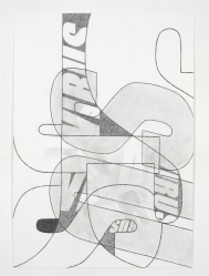 Michael Stubbs, 'Virus Drawing #6', 2012, pencil on watercolour paper, 60 x 42 cms