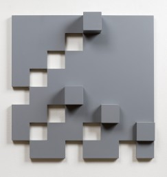 Peter Lowe, Untitled, 1973, wood painted grey , 52 x 52 cm