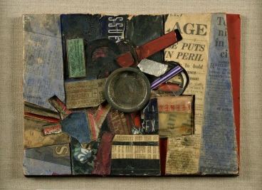 Robyn Denny, 1C7, 1954, mixed materials on card, 19.7 x 25.4 cm