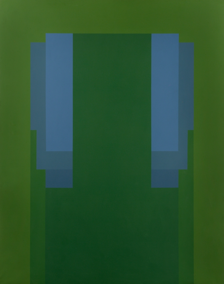 Robyn Denny, AWAY 1968:72, oil on canvas, 238.8 x 189.2 cm