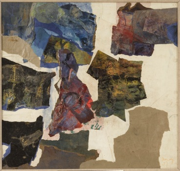 Robyn Denny, Collage no 8, 1957, collage on paper,50.8 x 53.3 cm