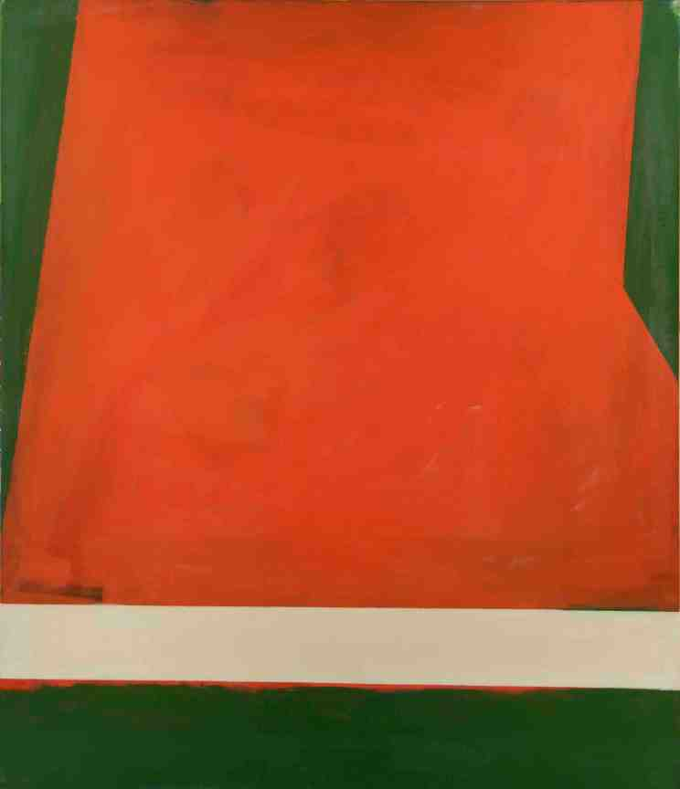 Robyn Denny, Place 3, 1959, oil on canvas, 213.4 x 183 cm