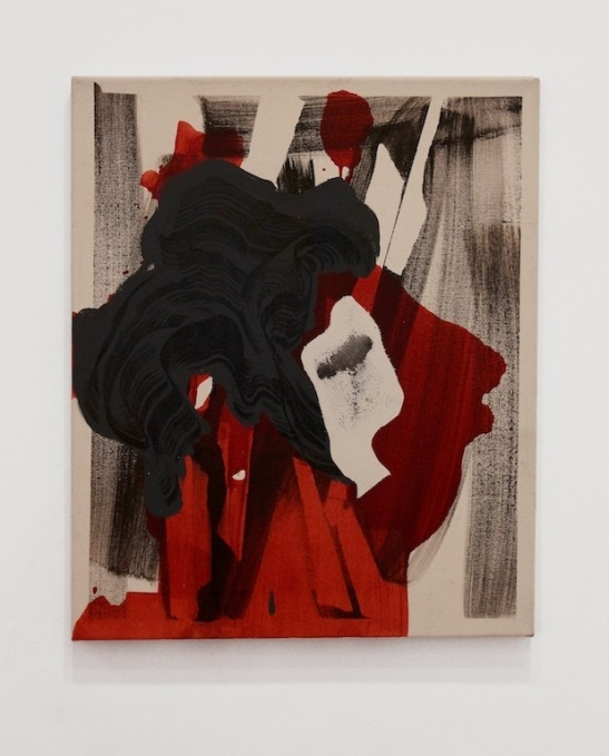 Andrea Medjesi Jones, Capital Realism (Greta), 2013, acrylic, canvas and pigment on linen, 60 x 50 cm. Courtesy Laurent Delaye Gallery, photo by A. Zangirolami