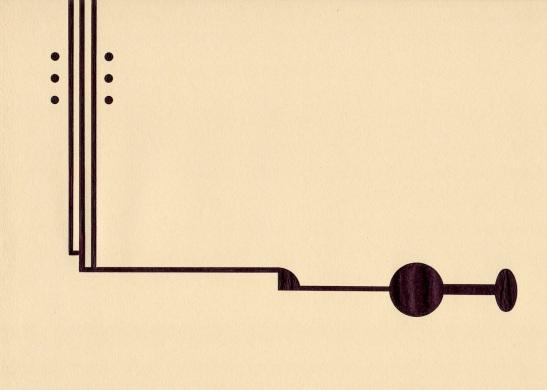 Richard Caldicott, Untitled, 2012, mixed media on coloured paper, 21 x 29 cm