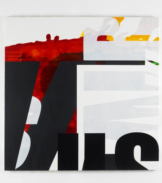 Michael Stubbs, Repeater, 2010, household paint and tinted floor varnish on MDF, 122x122 cm