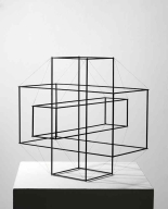 Norman Dilworth Structure Series 2A, 1972, steel, 41x41x41cm